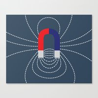 magneto Canvas Prints featuring Magneto field by Asif Mallik