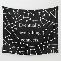 eames Wall Tapestries featuring Eventually, everything connects by Alisa Galitsyna