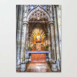 Saint Padre Pio St Stephens Cathedral Vienna Canvas Print