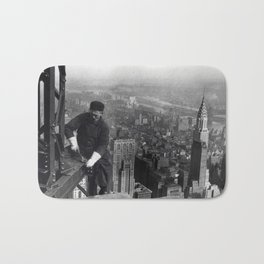 Construction worker Empire State Building NYC Bath Mat