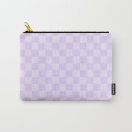 Large Chalky Pale Lilac Pastel Checkerboard Carry-All Pouch