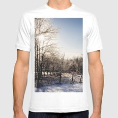 Frozen Countryside Mens Fitted Tee MEDIUM White