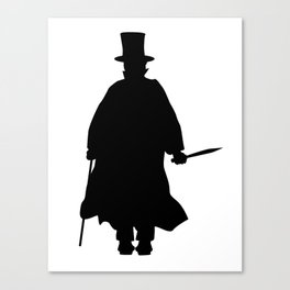 Jack the Ripper Silhouette Canvas Print