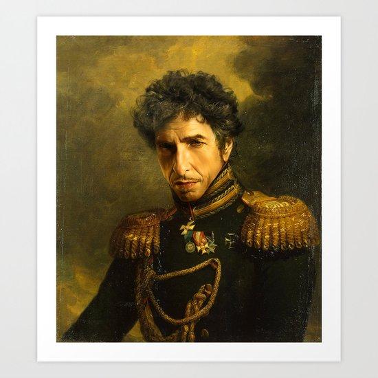 Bob Dylan - replaceface Art Print