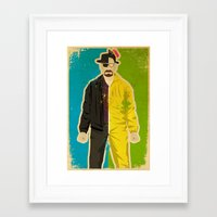 heisenberg Framed Art Prints featuring Heisenberg by Danny Haas