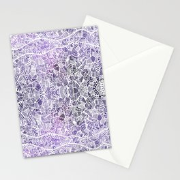 Purple Patches Stationery Cards