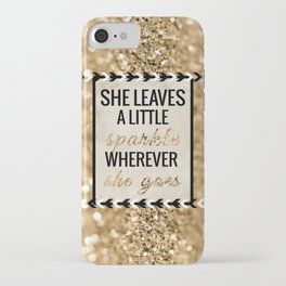 She Leaves a Little Sparkle Wherever She Goes iPhone Case