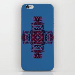 She's Abundantly Blessed Cross on Blue iPhone Skin