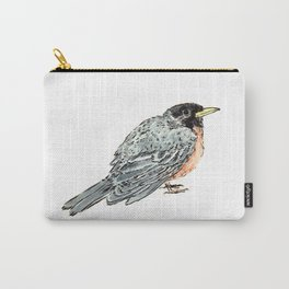 Grey Watercolor Bird Carry-All Pouch