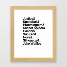&& Warriors Framed Art Print