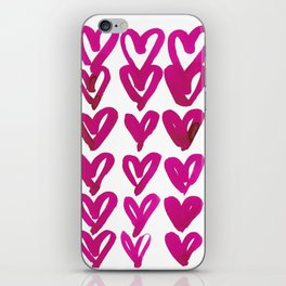 PINK HEARTS PATTERN iPhone Skin