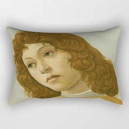 """Sandro Botticelli """"The Virgin and Child with Saint John and an Angel"""" An angel Rectangular Pillow"""