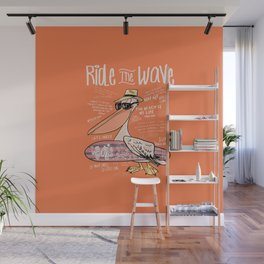 Surfer Bird Wall Mural