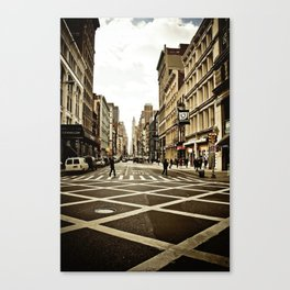 Broadway Crosswalk Canvas Print