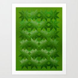 Evergreen, Snowflakes #32 Art Print