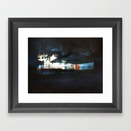 The Ice Docks Framed Art Print