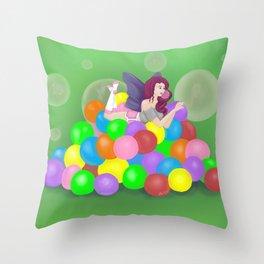 Bubblicious Throw Pillow