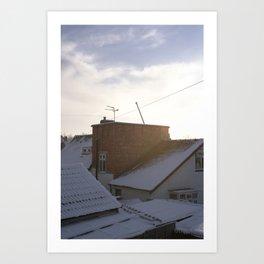 Snow suburbia Art Print