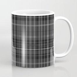 Black Grey Plaid Coffee Mug