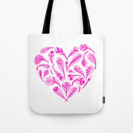 Feather Heart (Magenta) Tote Bag
