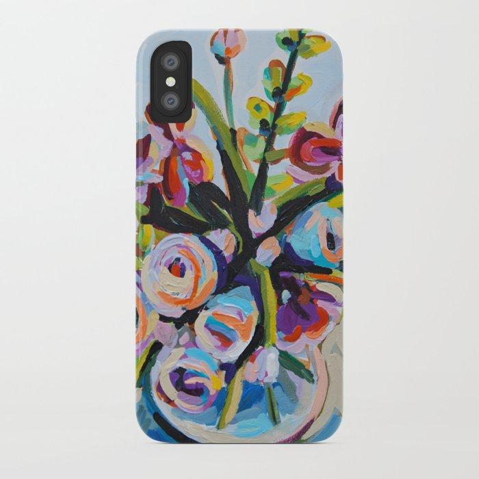 Clothed - Purple Bouquet iPhone Case