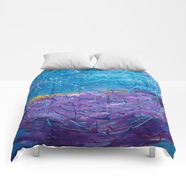 Purple/Blue Abstract Comforters