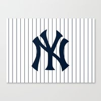yankees Canvas Prints featuring Yankees MLB by Minimal Luck
