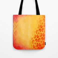 Firery Flowering Tote Bag