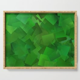 Cubed grass ... Serving Tray
