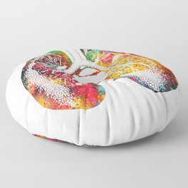 Lungs and Heart Floor Pillow