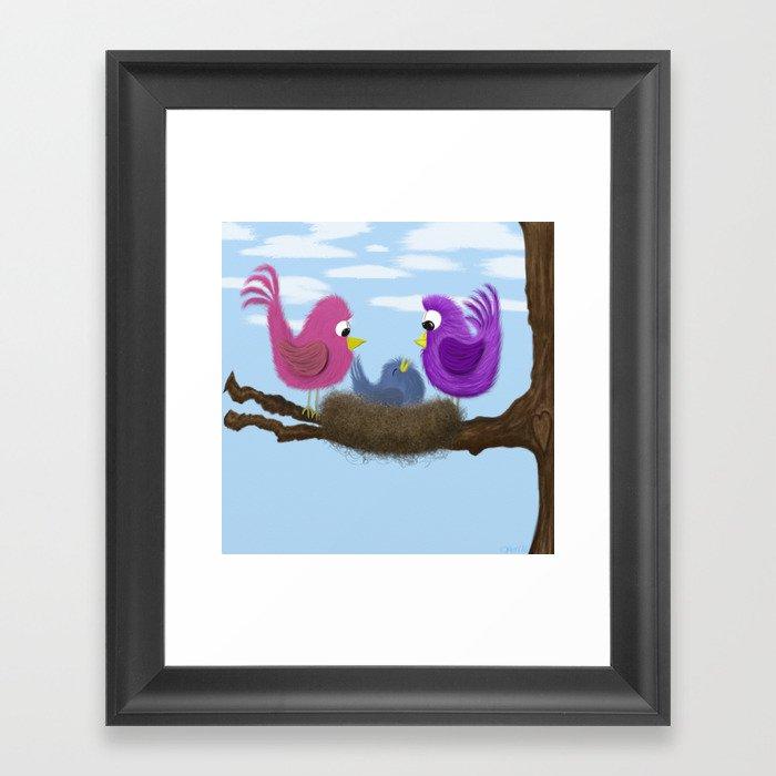 Our Tiny Bird Framed Art Print