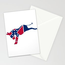 Mississippi Republican Donkey Flag Stationery Cards