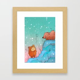 The Grizzly Man (adorable version) Framed Art Print