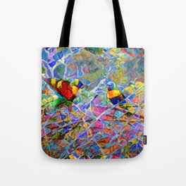 Rainbow Lorikeet Mosaic Tote Bag