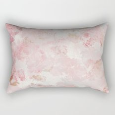 Vintage Floral Rose Roses painterly pattern in pink on #Society6 Rectangular Pillow