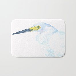 Green Eyed Heron Bath Mat