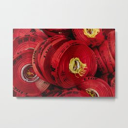 Red Lanterns Metal Print