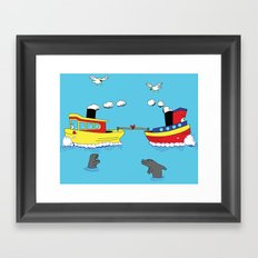 TUG BOAT OF WAR Framed Art Print