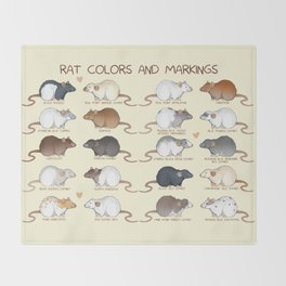 Rat colors and markings  Throw Blanket