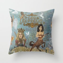 Zeppelin - In Days Of Old When Magic Filled The Air Throw Pillow