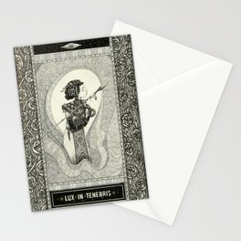 Lux in tenebris Stationery Cards