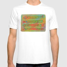 Positive Logger - Longboard Surfboards - Happy Surfers Mens Fitted Tee White MEDIUM