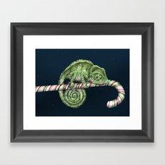 Christmas Chameleon Framed Art Print
