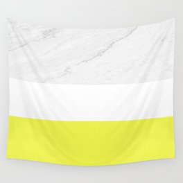 Marble yellow stripes Wall Tapestry