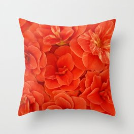 Red Camelias... Throw Pillow