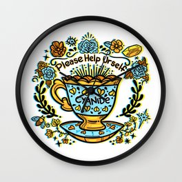 Poison of Choice: Cyanide TeaCup Wall Clock