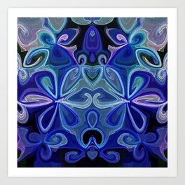 Blue Lotus Large Art Print