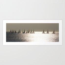 Sailboats at Nice France Art Print