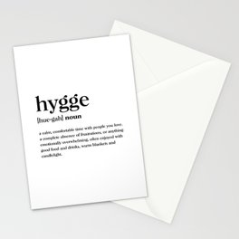 Hygge Definition Stationery Cards
