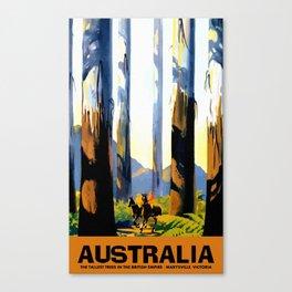Vintage Australia travel tall trees Marysville VIC Canvas Print